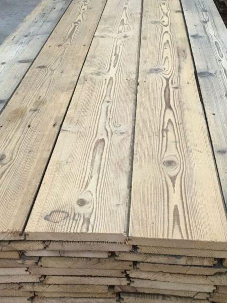Antique pine floorboards