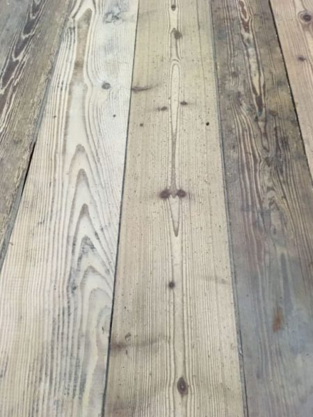 Salvaged pine floorboards from france