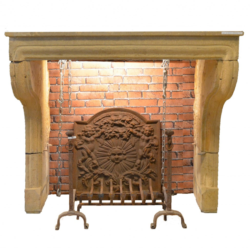 Antique French Stone Fireplace French Limestone Bca