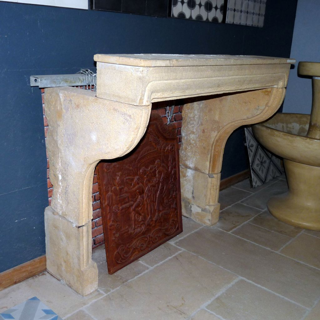 Antique French Stone Fireplace French Limestone Bca Antique Materials
