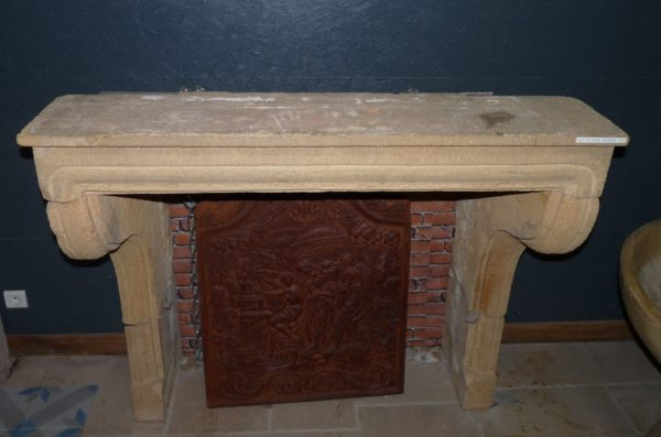 mantel french stone fireplace