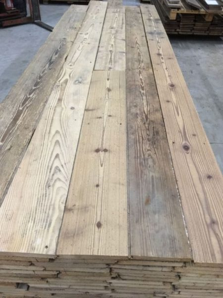 reclaimed french pine floorboards