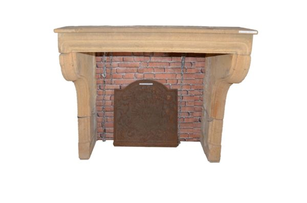 reclaimed stone fireplace from france