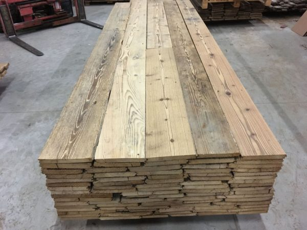 stock of antique pine floorboards