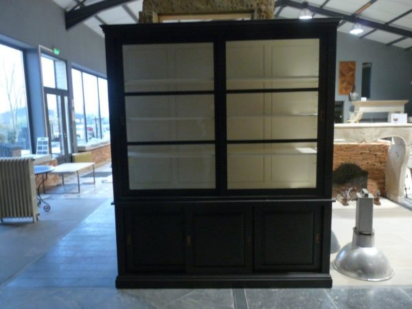 display cabinet with upper glazed section