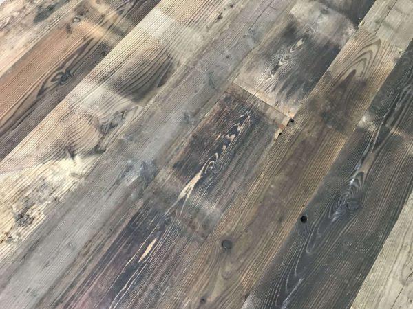 railway wagon boards in pine floor