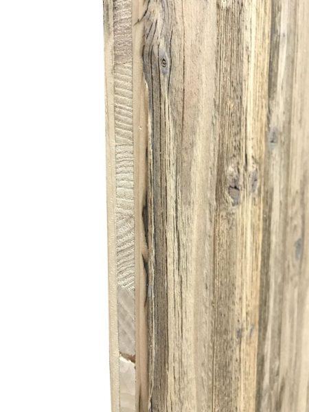 panneau 3 plis en vieux bois de sapin naturel