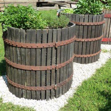 cage de pressoir en bois