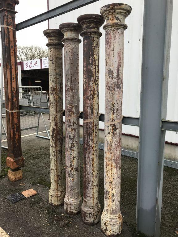 Antique Doric Order Columns In Cast Iron Bca Antique