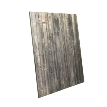 reclaimed panels in grey wood