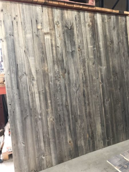 reclaimed grey pine panel at BCA premise