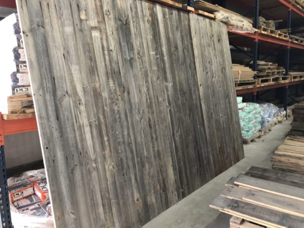 reclaimed pine panels in grey finition wood