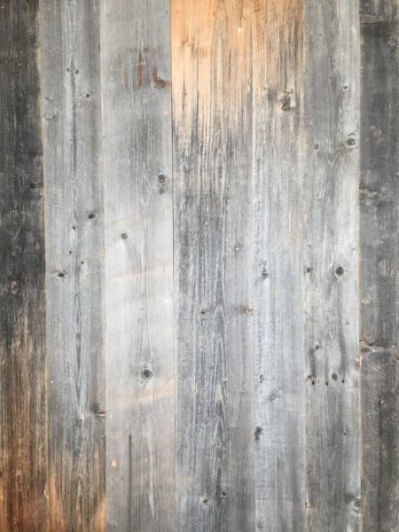 reclaimed pine panels in grey pine