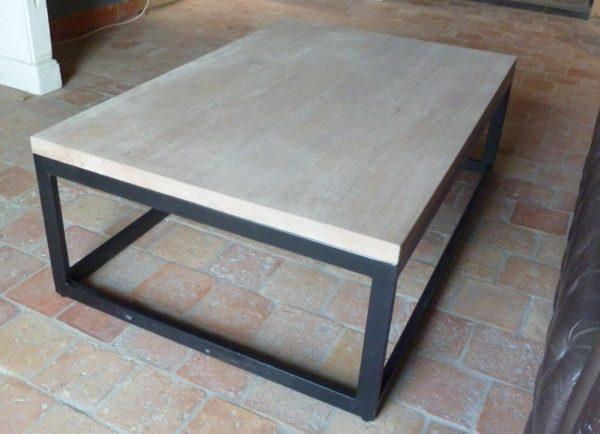 small coffee table in oak wood