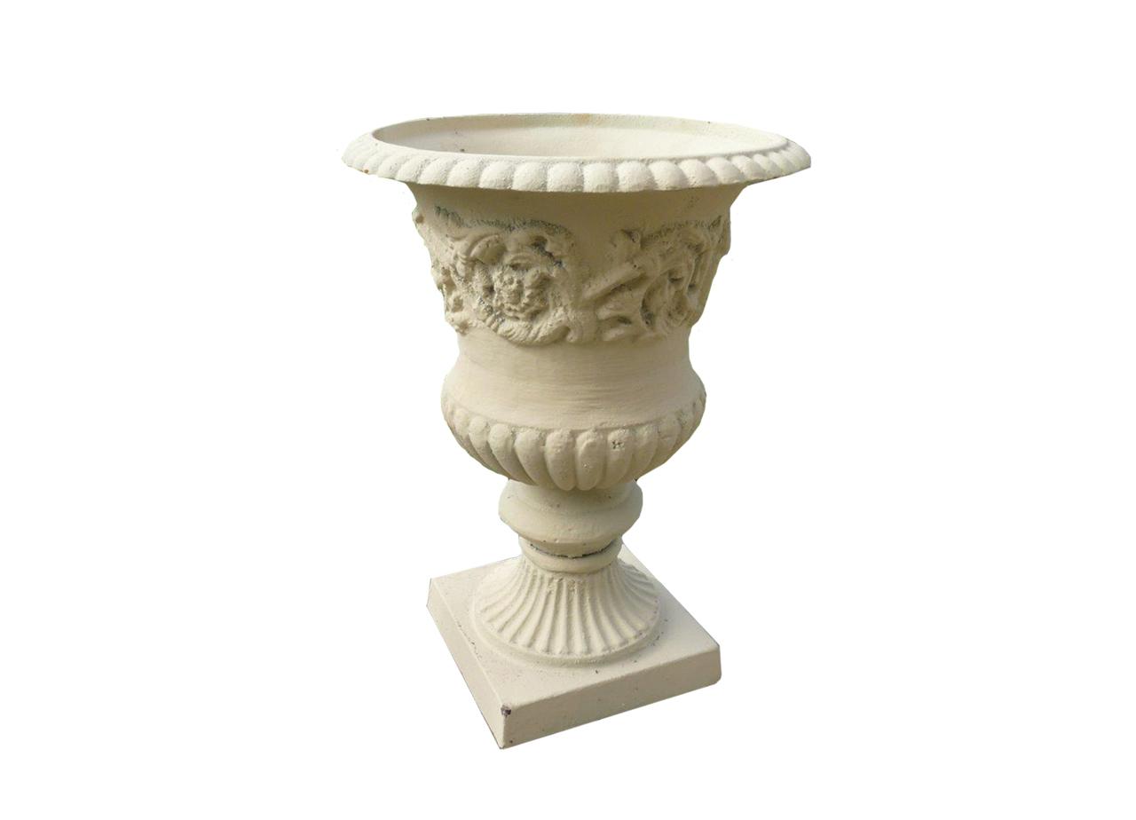 Vase de jardin en fonte hauteur 39 cm bca mat riaux - Vase en pierre jardin ...