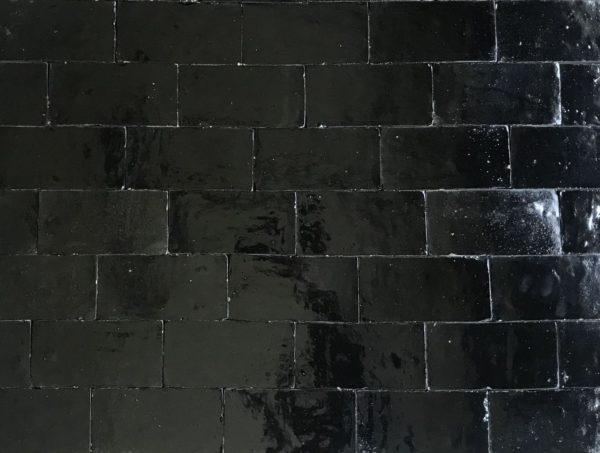 brique emaillée noir à l'ancienne