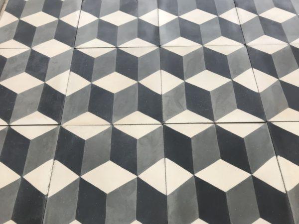 carreauc ciment vieilli cube 3d