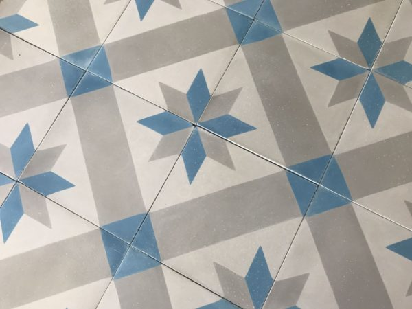 carreaux ciment étoile bleue