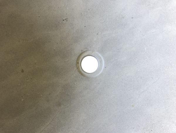 hole of the grey washbasin