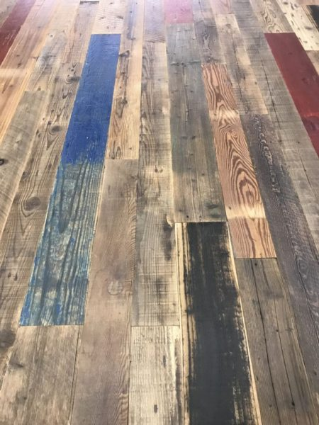antique pine parquet