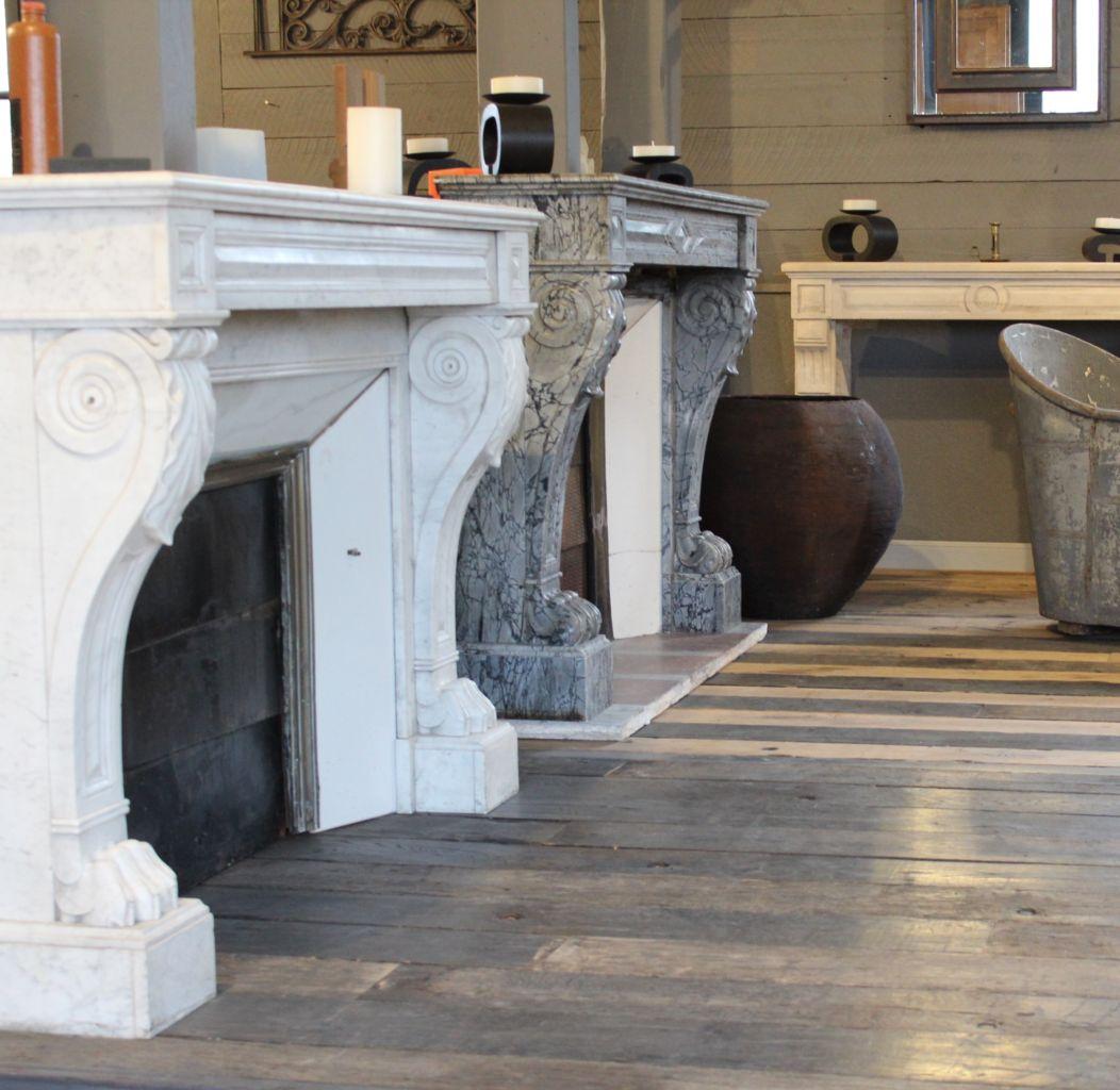 cheminée ancienne et plancher ancien