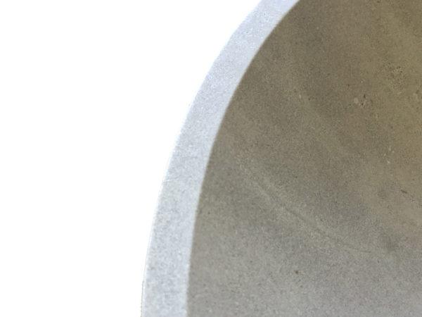 detail of diameter washbasin grey
