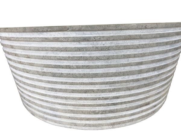 évier en pierre naturelle gris