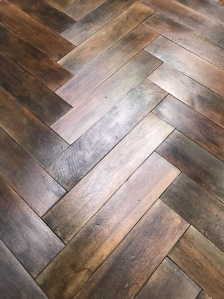 french parquet herringbone