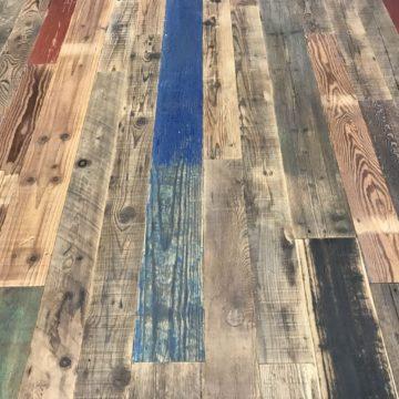 reclaimed mixed parquet flooring