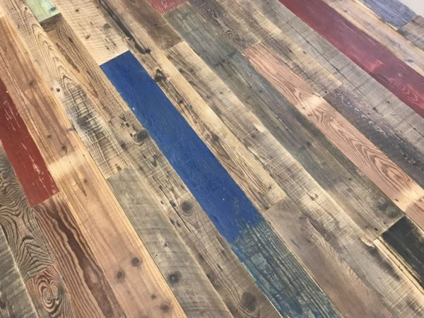 reclaimed pine parquet