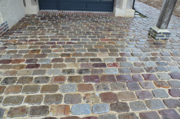 antique paving from france in rainbow color