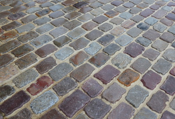 antique reclaimed paving from france in granite street