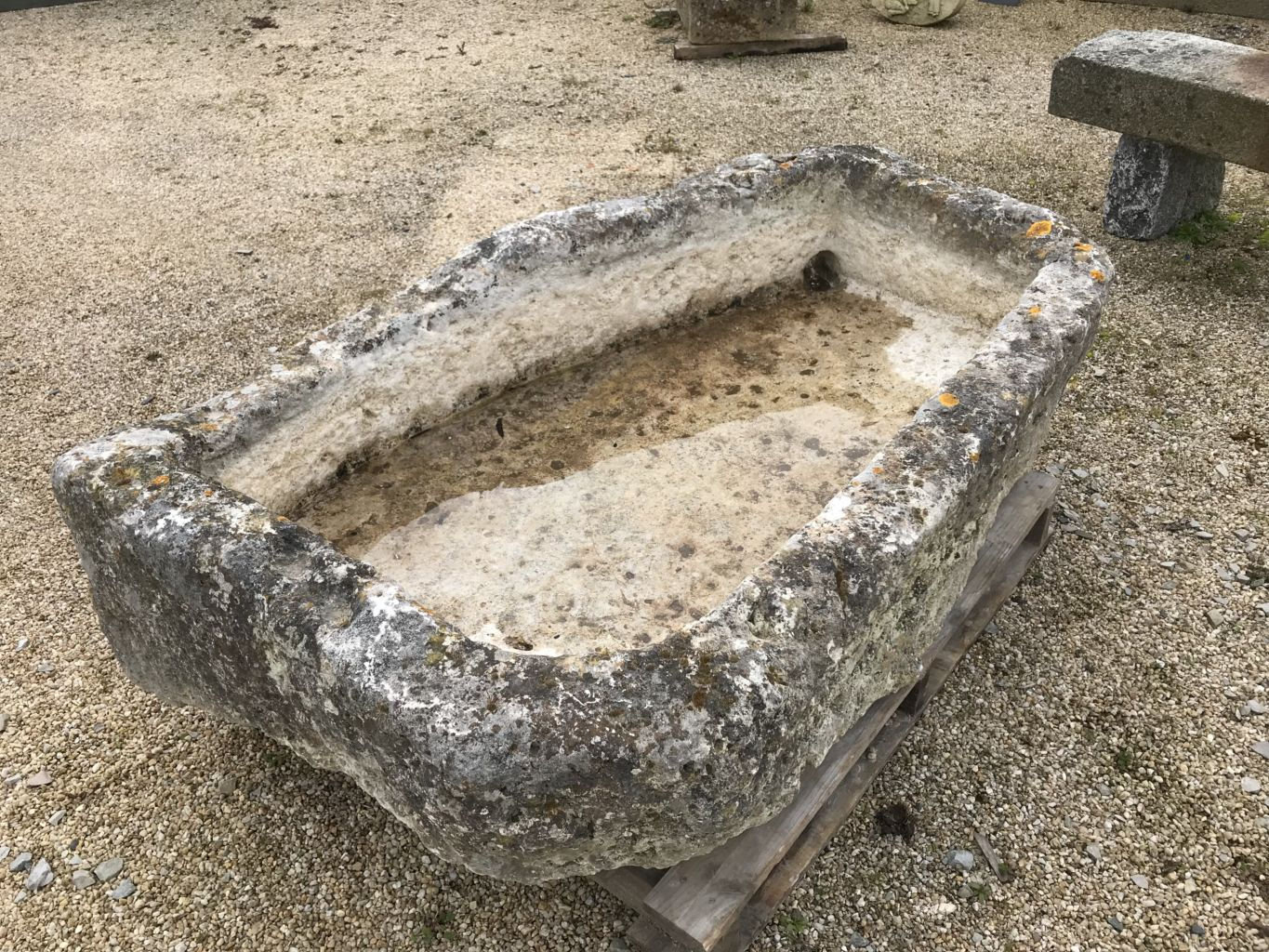 antique french limestone trough or pool bca antique materials. Black Bedroom Furniture Sets. Home Design Ideas