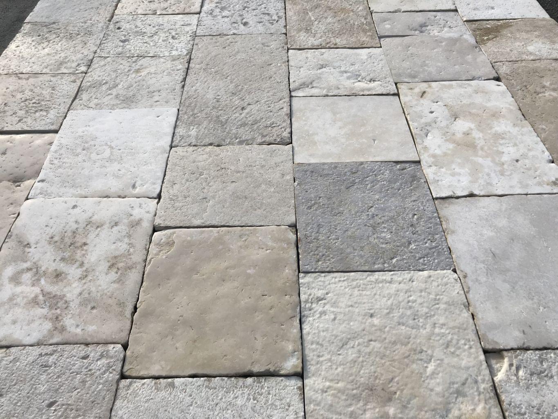 Antique Limestone Flagstone Floors In Bands Bca Mat 233 Riaux