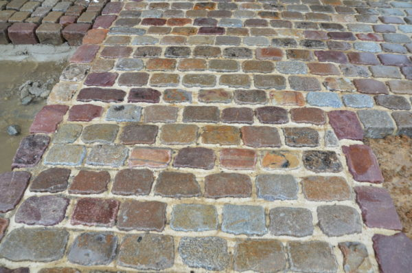 reclaimed paving in lots of color