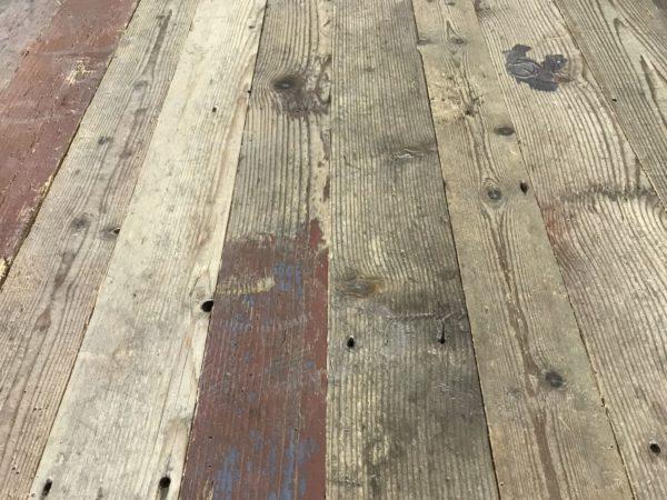 reclaimed pine flooring long boards bca materiaux anciens With parquet de récupération