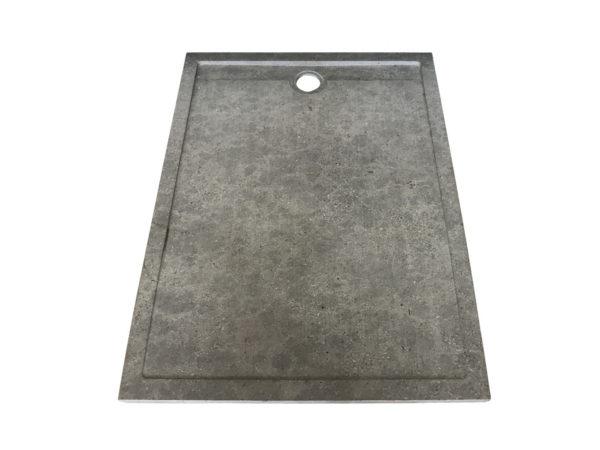receveur de douche en pierre naturelle gris