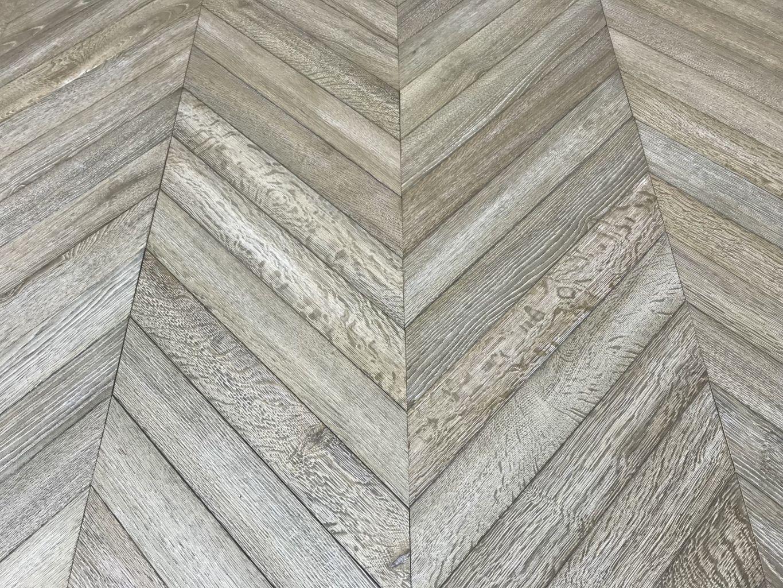 oak chevron parquet flooring with antique worn grey patina. Black Bedroom Furniture Sets. Home Design Ideas