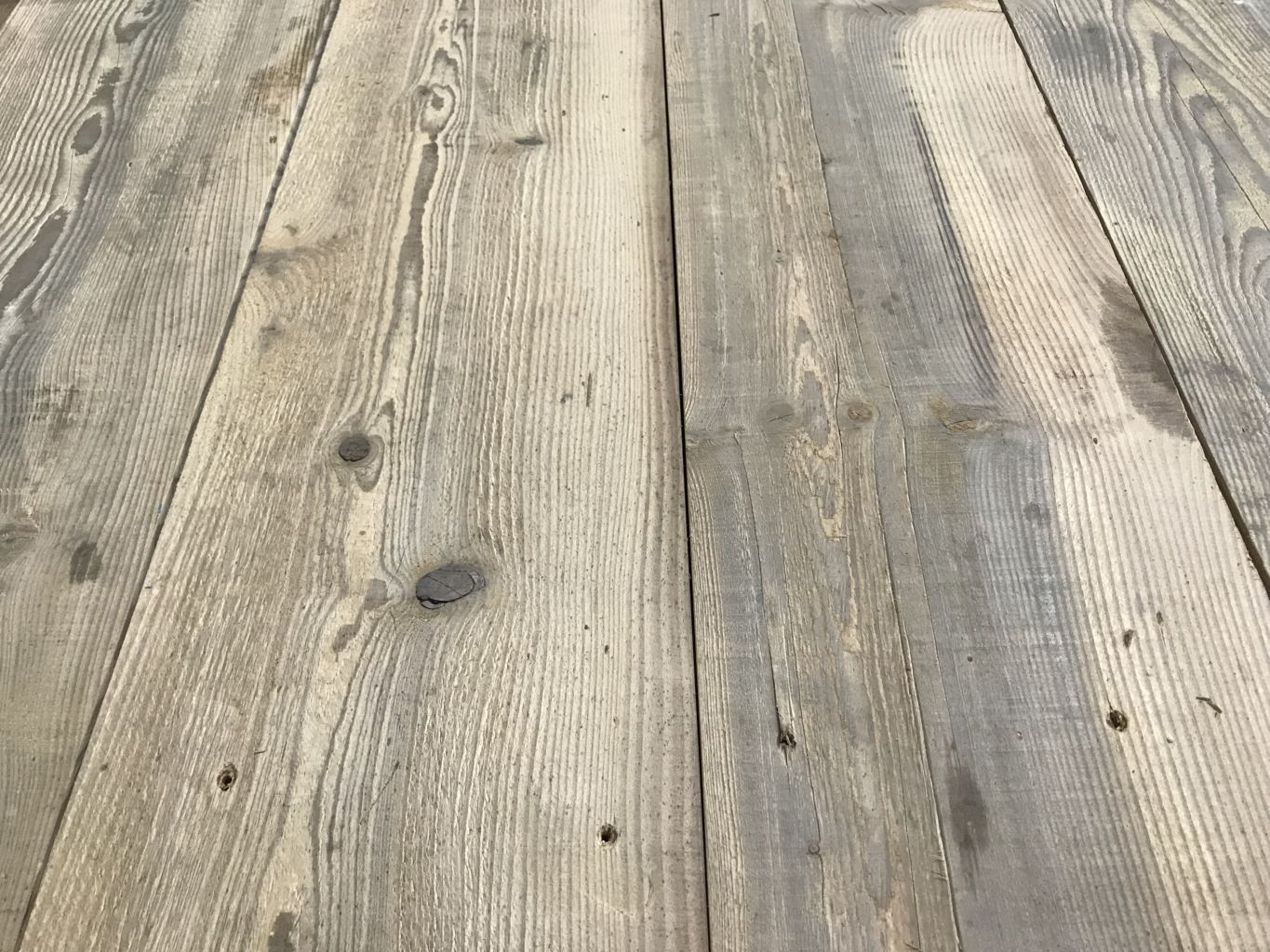 Old Reclaimed Pine Floorboards Prepared Ready To Lay