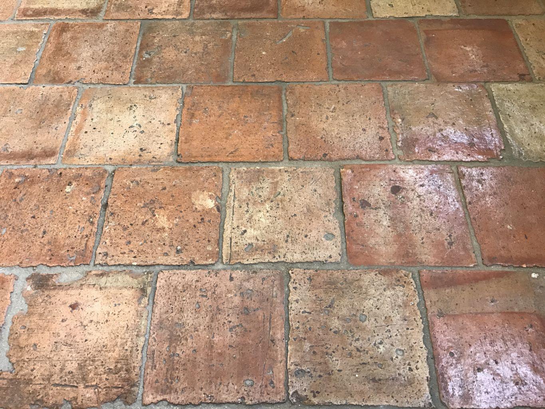 Antique French terracotta tiles - 16x16 cm | BCA Antique Materials