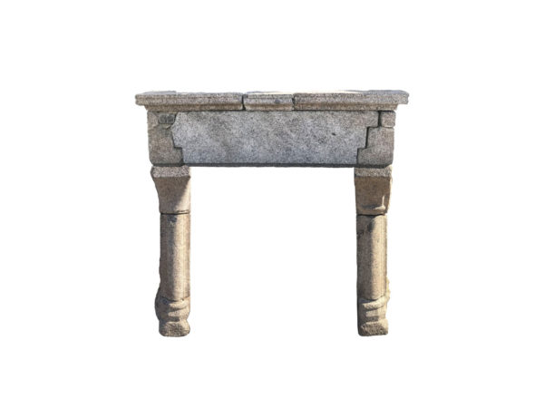 Antique Gothic French fireplace in granite