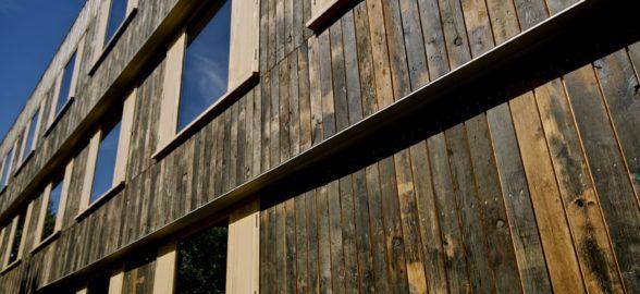 Reclaimed railway wagon boards in oak