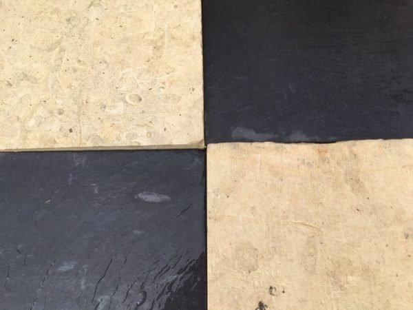 antique flagstone black and white