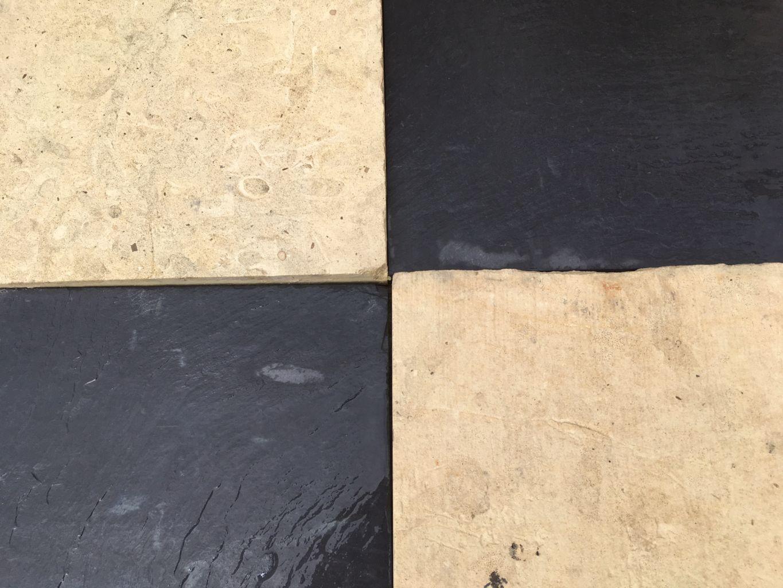 Antique Stone Floor Black Amp White Check 19th Century