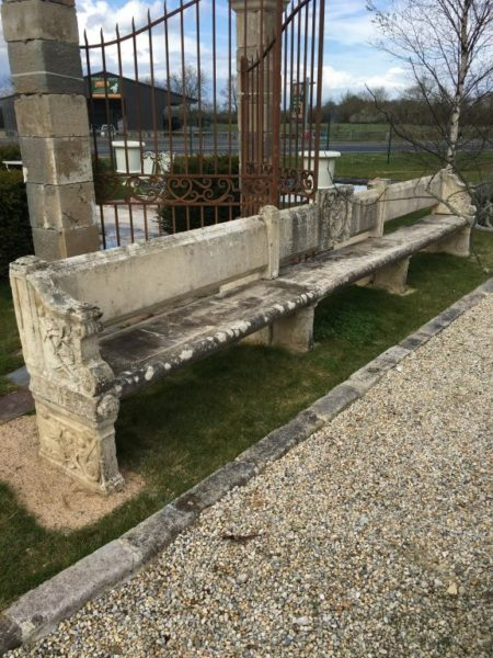 Cardinal Richelieu's limestone bench from 17th century