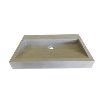 Washbasin in natural stone Mera Grey France
