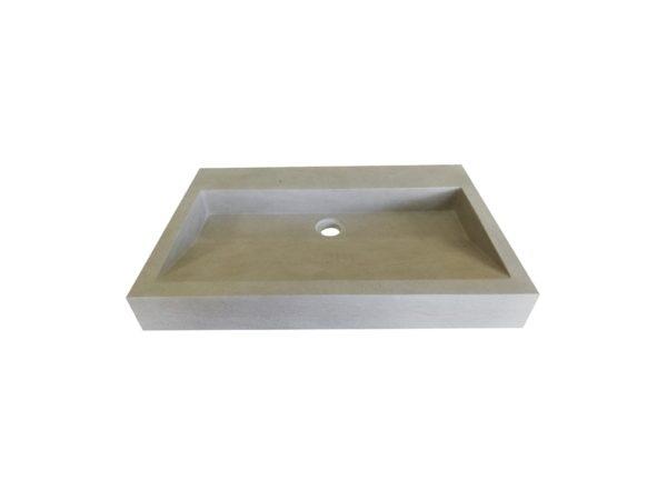 Washbasin in natural stone Mera Grey France