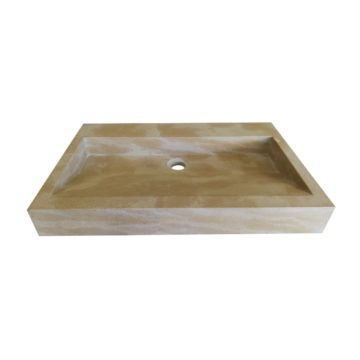 Washbasin in natural stone Mera beige France