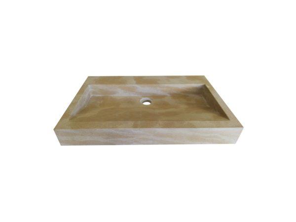 Washbasin in natural stone Mera beige France