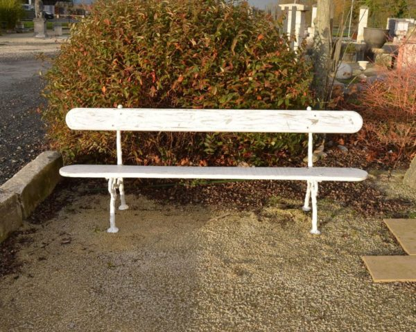 bench white for garden